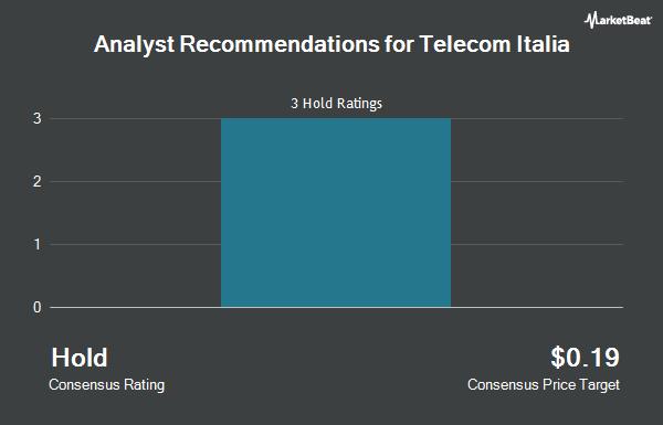 Analyst Recommendations for Telecom Italia (OTCMKTS:TIIAY)