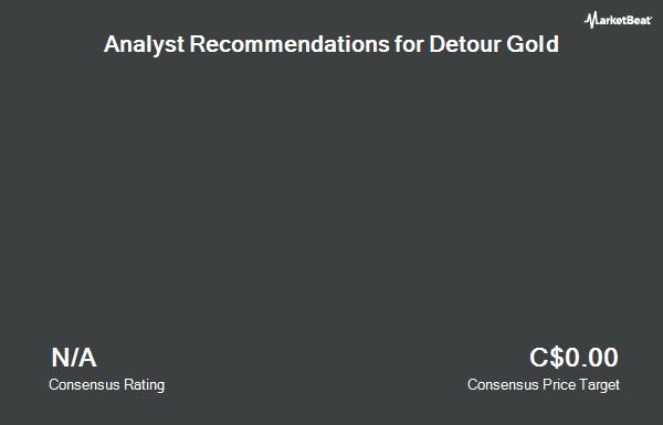 Analyst Recommendations for Detour Gold (TSE:DGC)