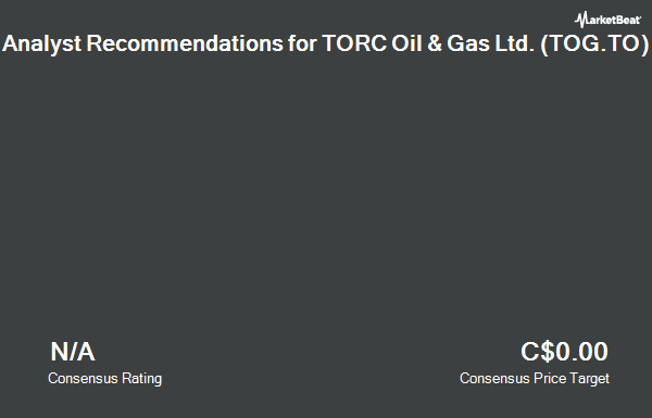Analyst Recommendations for TORC Oil and Gas (TSE:TOG)