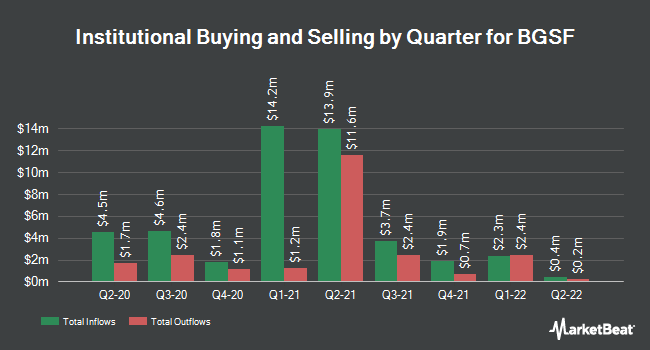 Institutional Ownership by Quarter for BGSF (NYSE:BGSF)