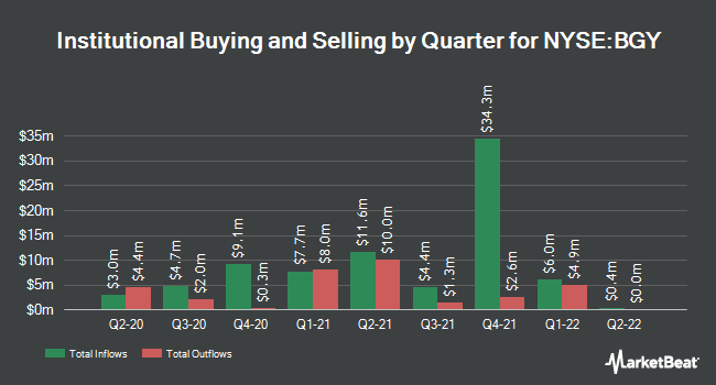 Institutional Ownership by Quarter for Blackrock Enhanced Internationl Dvdnd Tr (NYSE:BGY)