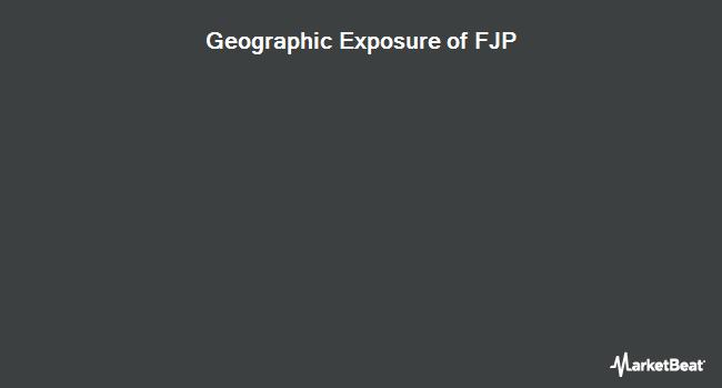 Geographic Exposure of First Trust Japan AlphaDEX Fund (NASDAQ:FJP)