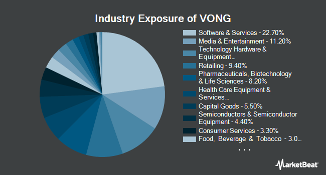 Industry Exposure of Vanguard Russell 1000 Growth ETF (NASDAQ:VONG)