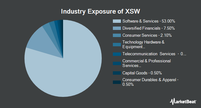 Industry Exposure of SPDR S&P Software & Services ETF (NYSEARCA:XSW)