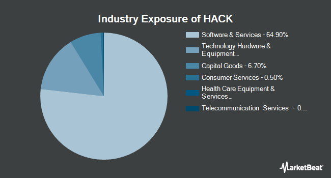 Industry Exposure of ETFMG Prime Cyber Security ETF (NYSEARCA:HACK)