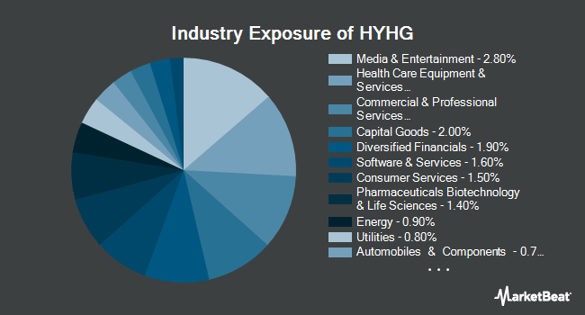 Industry Exposure of ProShares High Yield-Interest Rate Hedged ETF (BATS:HYHG)