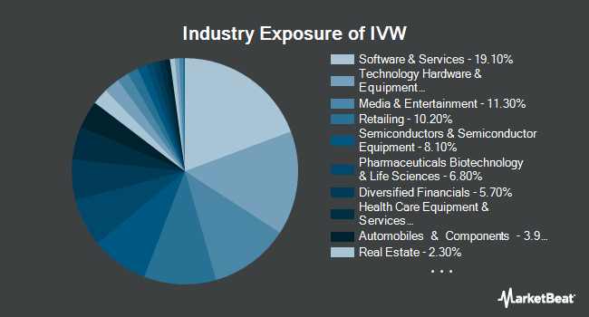 Industry Exposure of iShares S&P 500 Growth ETF (NYSEARCA:IVW)