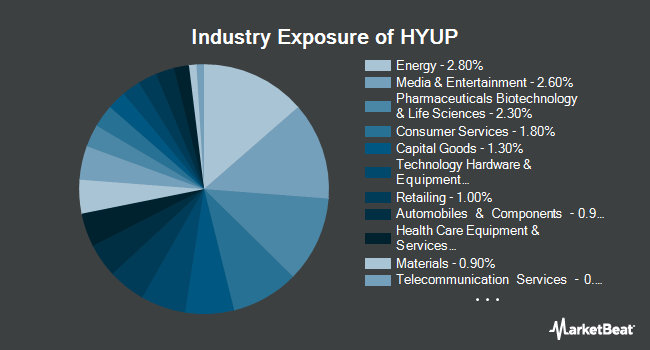 Industry Exposure of Xtrackers High Beta High Yield Bond ETF (NYSEARCA:HYUP)