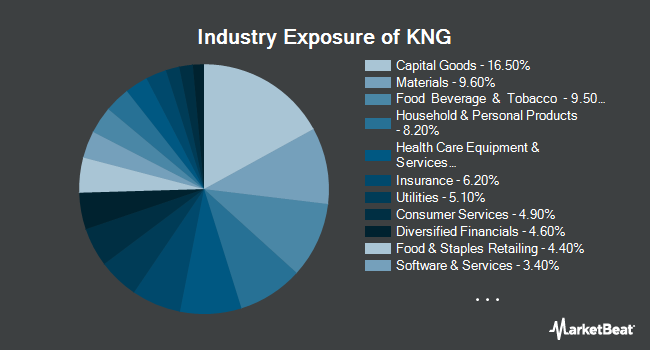 Industry Exposure of CBOE Vest S&P 500 Dividend Aristocrats Target Income Index ETF (BATS:KNG)