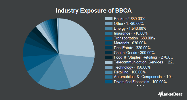 Industry Exposure of JPMorgan BetaBuilders Canada ETF (NYSEARCA:BBCA)