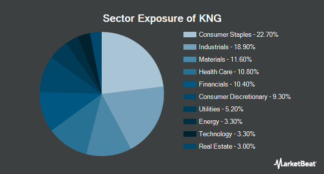 Sector Exposure of CBOE Vest S&P 500 Dividend Aristocrats Target Income Index ETF (BATS:KNG)