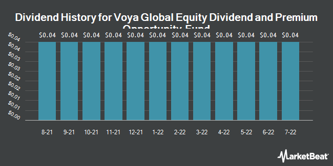 Dividend Payments by Quarter for ING Global Eq Dividend (NYSE:IGD)