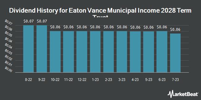 Dividend Payments by Quarter for Eaton Vance Municipal Incm 2028 Term Tr (NYSE:ETX)