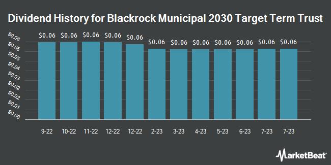 Dividend Payments by Quarter for Blackrock Municipal 2030 Targt Term Trst (NYSE:BTT)