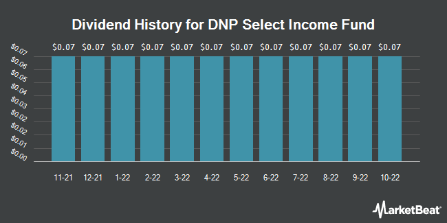 Dividend Payments by Quarter for DNP Select Income Fund (NYSE:DNP)