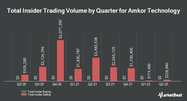 Insider Trades by Quarter for Amkor Technology (NASDAQ:AMKR)