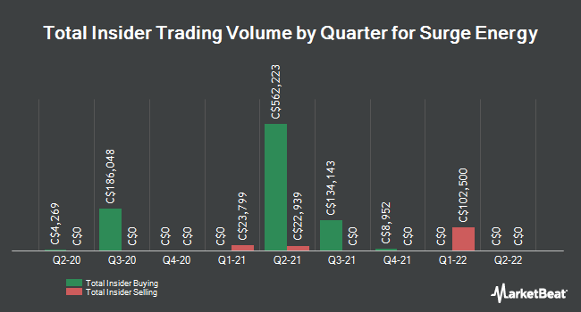 Insider Trades by Quarter for Surge Energy (TSE:SGY)