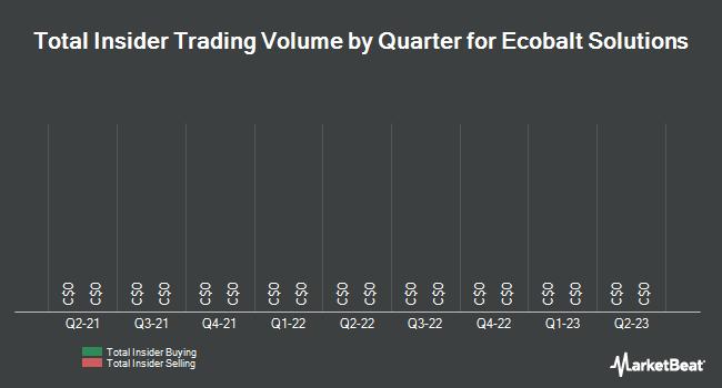 Insider Trades by Quarter for eCobalt Solutions (TSE:ECS)