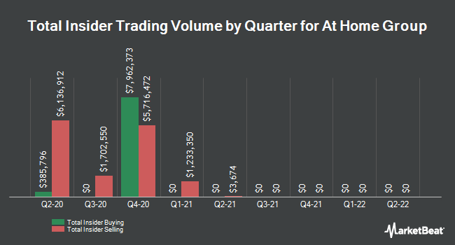 Insider Trades by Quarter for At Home Group (NYSE:HOME)