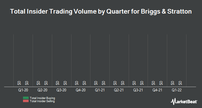 Insider Trades by Quarter for Briggs & Stratton (NYSE:BGG)