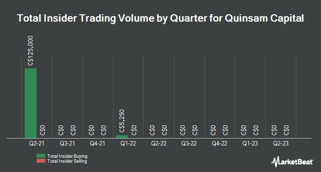 Insider Trades by Quarter for Quinsam Capital (CNSX:QCA)