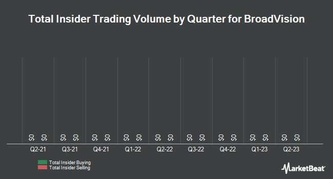 Insider Trades by Quarter for BroadVision (NASDAQ:BVSN)