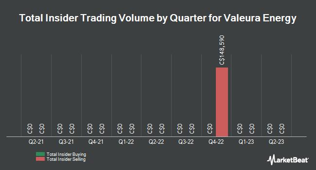 Insider Trades by Quarter for Valeura Energy (TSE:VLE)