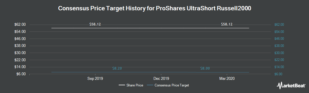 Price Target History for Ivy ProShares Russell 2000 Dividend Growers Index Fund (NYSEARCA:TWM)