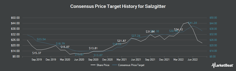 Price Target History for Salzgitter (ETR:SZG)